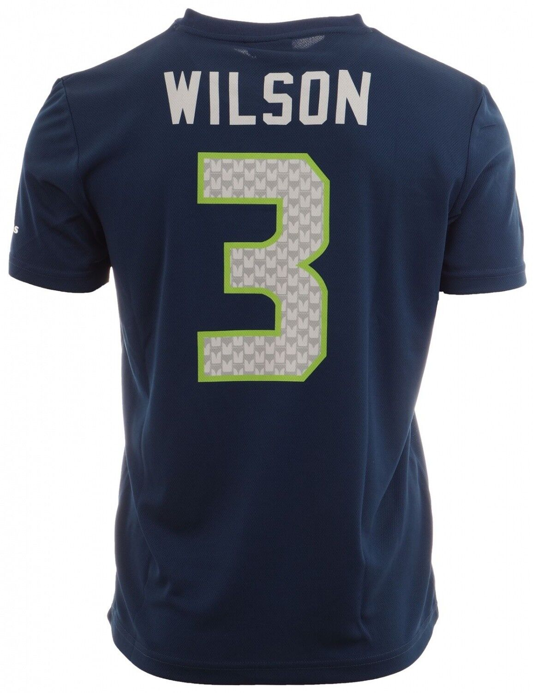 Majestic Athletic - NFL Seattle Seahawks Wilson  3 N&N Jersey Shirt - navy