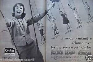 68b08ea8778f26 Détails sur PUBLICITÉ 1959 CRYLOR JERSEY SWEET TAILLEUR ENSEMBLE CHANEL -  ADVERTISING