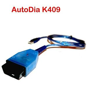 OBD2 Diagnose Interface AutoDia K409 USB KKL für VW Audi Seat Skoda V2021+