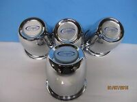 4 Chrome Steel Center Caps 3 1/8 Od 3 1/2 Tall W/ Cragar Emblem