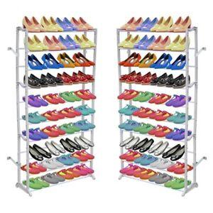 vidaXL Estante para Zapatos 2 Unidades Zapatero para 40 Pares de Zapatos Blanco