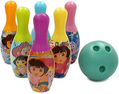 DORA THE EXPLORER BOWLING BALL PINS SET Child Baby Girl 2+ KIDS TOYS NICKELODEON
