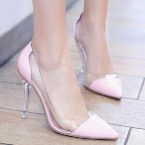 Damenschuhe High Heels Stilettos Wedding Schuhes Pumps Clear Toe Pointy Toe Clear ... 82bb45