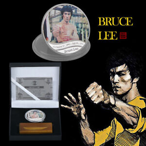 WR-Enter-the-Dragon-Chinese-Kung-Fu-Bruce-Lee-Silver-Coin-Memorabilia-Collection