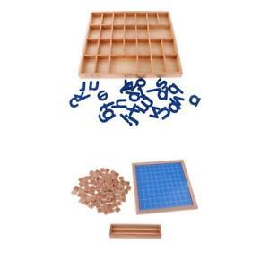 Montessori-Nombre-de-Jouets-d-039-Apprentissage-Boite-a-Alphabets-Montessori