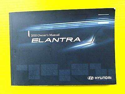 2010 10 HYUNDAI ELANTRA OWNER/'S OWNER MANUAL SET NEW