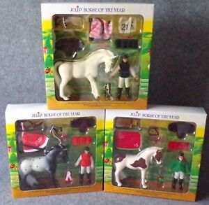 Julip-Horse-Model-Gift-Set-Bundle-Montana-Icicle-amp-Pandora-NEW-Farm-Toy-Doll