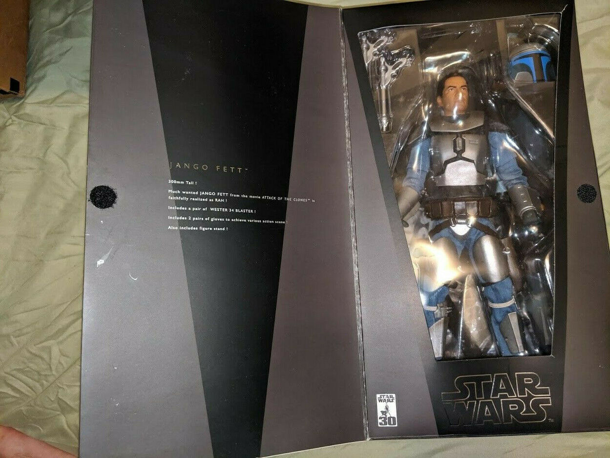 2007 RaRe Medicom Star Wars Jango Fett 12  Tall Action Figure RAH