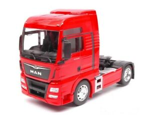 WELLY-MAN-TGX-18-440-4X2-VEHICULE-CAMION-MINIATURE-ROUGE-1-32