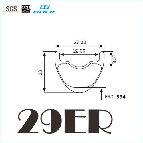 super light 29er 27mm width mtb carbon rim mountain rim tubeless compatible
