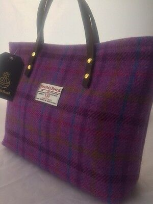 Harris Tweed Handbag Purple Tartan Bag Womens Gift For Her Womans Scottish Ebay
