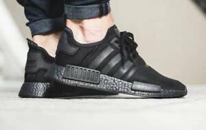 Details zu Adidas NMD R1 Triple Black Boost Solar Reflective Men's Trainers  S31508 (PTI)