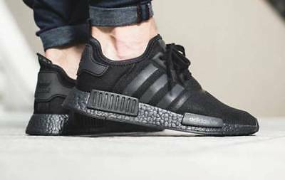 best website d497b cb6a3 Adidas NMD R1 Triple Black Boost Solar Reflective Men's Trainers S31508  (PTI) | eBay