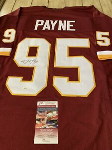 Darron-Payne-Autographed-Signed-Jersey-JSA-COA-Washington-Redskins-Alabama