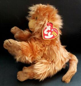 """Ty Beanie Baby Caipora - Golden Lion Tamarin Monkey Plush 7"""" MWMT"""