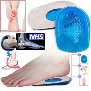 2X-Talonnettes-Chocs-Gel-Semelles-Orthopedique-Silicone-Talon-Support-Chaussures