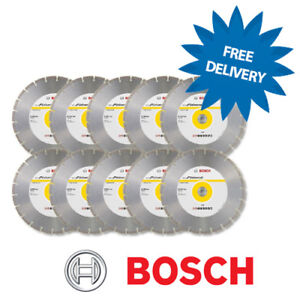10-x-BOSCH-300mm-12-034-Universal-Proposito-Cuchilla-Diamante-Disco-General