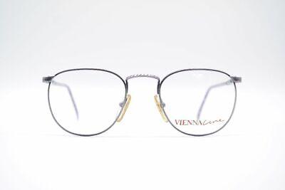 Treu Vintage Vienna Line 1773 49[]20 135 Lila Grau Oval Brille Eyeglasses Nos