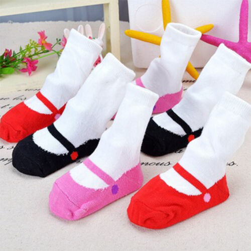 1 Pair Sweet Winter Autumn Baby Girls Sock Warm Ballet Skid Toddlers Dance Sock