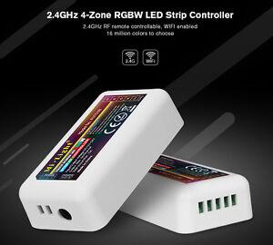4 Zones Rgbw Led Rgb + Ww Rvb + W Touch Contrôleur 2,4ghz Wlan Wifi W-lan Mi-light-afficher Le Titre D'origine Apparence éLéGante
