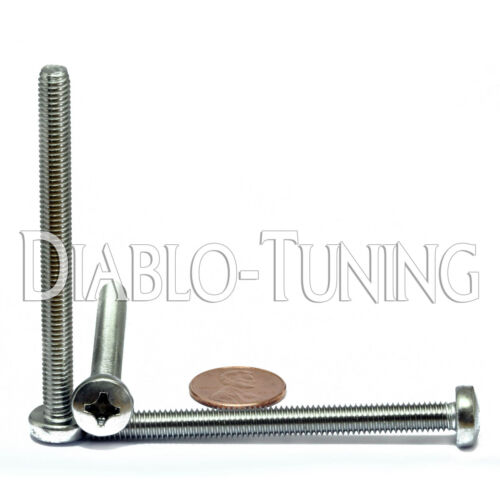 Stainless Steel Phillips Pan Head Machine Screws DIN 7985 A M6 x 70mm Qty 25