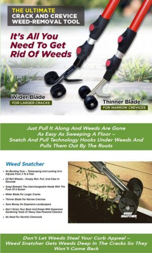 Crack and Crevice Weeding Tool THE WEED SNATCHER