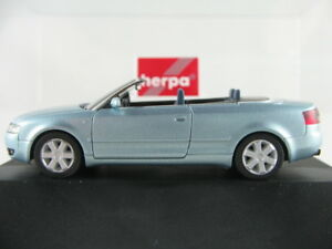 Herpa-101356-audi-a4-cabriolet-2002-en-Hell-metalizado-azul-nuevo-1-87-h0-embalaje-original-PC