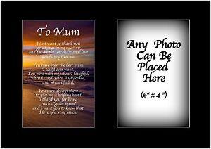 Détails Sur Pour Maman Poème Personnalisé Avec Nimporte Quel Photo Anniversaire Mères Jour Cadeau De Noël Afficher Le Titre Dorigine