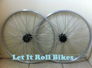 """A pair of Steel Hollow Hub 36h 80g Chrome for 5//8/"""" axle"""