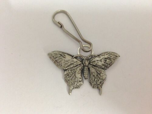Butterfly PP-A32 English Pewter Emblem on a Zip Puller