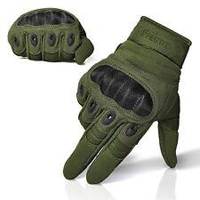 FREETOO® Adjustable Men's Tactical Gloves Hard Knuckle Sewn-in Brass Knuckles...