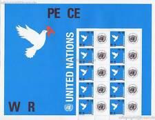 UNO NEW YORK - 2006 GRUSSMARKEN BOGEN FRIEDEN PEACE WAR 75c 1019 - S 12
