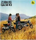 HONDA Brochure Z50 Z50A K5 & QA50 K2 1973 1974 1975 Sales Catalog REPRO