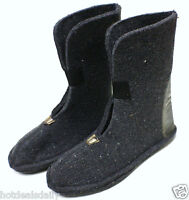 Heavy Wool Felt Winter Boot Liners Pair Boys Size 5 80%wool Snowmobile Snow