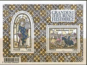 FEUILLET-F4857-NEUF-XX-LUXE-LES-GRANDES-HEURES-DE-L-039-HISTOIRE-BATAILLES