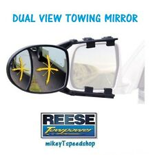 REESE DUAL VIEW TOWING MIRROR TRAILER truck hitch camper RV blind spot MIRROR