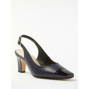 587f3ab29ce Details about John Lewis Made in England Coleford Wide Fit Court Shoes,  Navy Leather 5 & 7