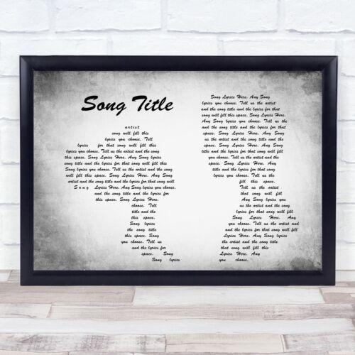 Les paroles de chansons Custom Gris Paysage Couple personnalisé de paroles