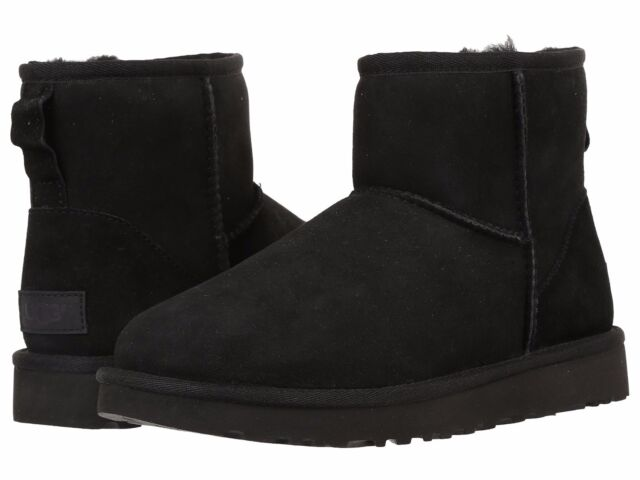 UGG Australia Classic Mini II SLIPPER BOOTS 643 Black 7 US 38 EU