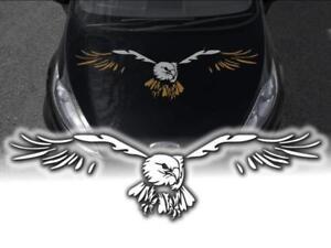 Auto-Aufkleber-Adler-Motorhaube-Pkw-A301-XXL-Decals-120cm-zweifarbig-einfarbig