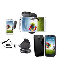 Samsung Galaxy S4 I9500 Auto Halterung Halter KFZ Ladegerät Silikon Hülle Black