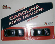 Jeff Gordon & Mark Martin - Racing Champions 1993 Carolina Ford Dealers Car Set