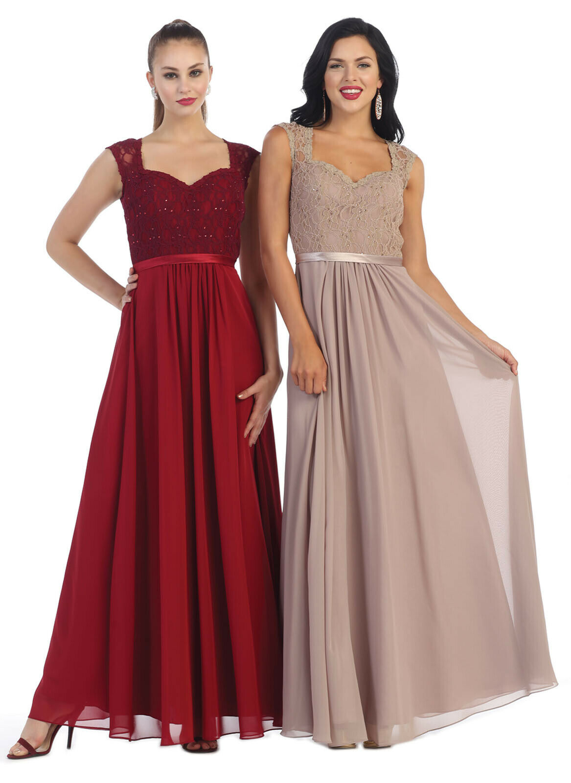 SLEEVELESS LONG FORMAL EVENING GOWN SPECIAL OCCASION DESIGNER DRESS PAGEANT PROM