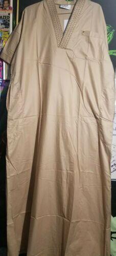 56//58 Authentic Arabian Gulf Kaftan Qatar Jalabiya Long Eid Dishdasha Thoub Gown