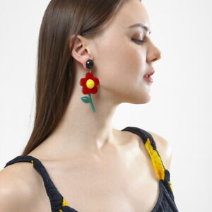 Women-Boho-Dangle-Drop-Stud-Earring-Acrylic-Resin-Flower-Earrings-Jewelry