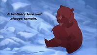 Brother Bear A Brother's Love Iron On Transfer 8x11