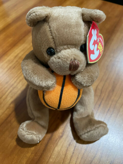 Ty Beanie Baby Hoops the Bear, with tag. Fast Free Shipping