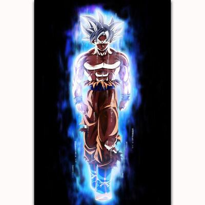 Art Print poster fabric Super Ultra Instinct Dragon Goku Japan Anime 24x36 21x14