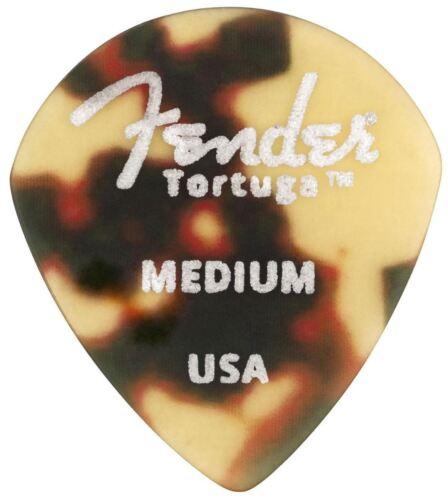 Genuine Fender Tortuga Picks 551 Medium 6 Pack