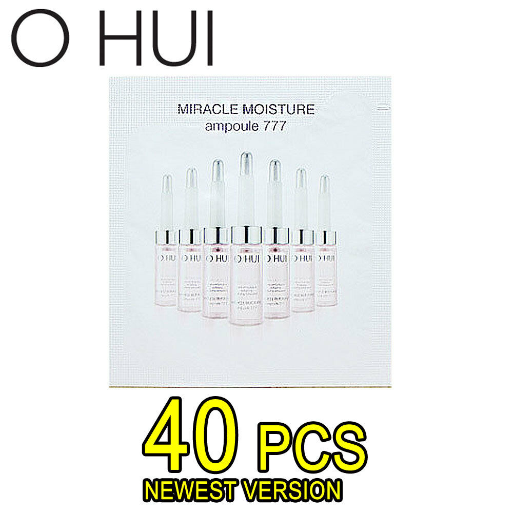 OHUI Miracle Moisture Ampoule 777 New Deep Hydration Anti Aging Moisturizer 40pcs